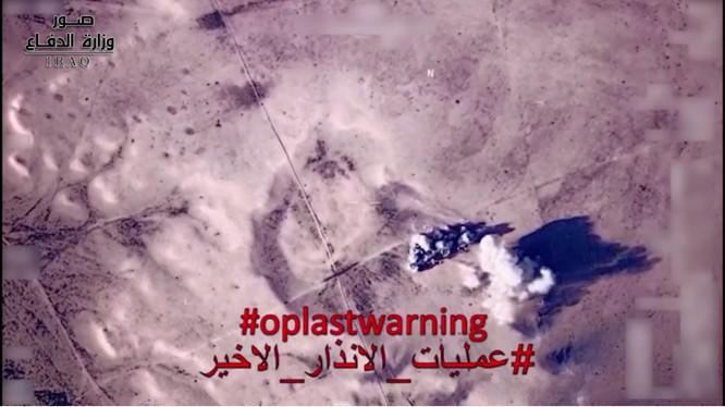 Quân đội Iraq pháo kích dữ dội vào chiến tuyến của IS. Ảnh minh họa video