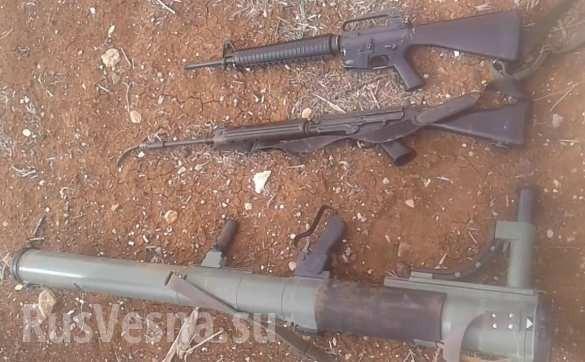 Vũ khí Mỹ bị thu giữ ở Al-Safa, tỉnh Sweida. Ảnh Rusvesna