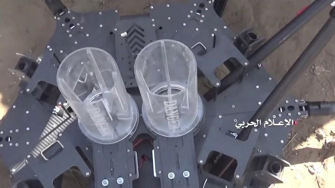 Drone của Ả Rập Xê-út, bị lực lượng Houthi bắn hạ trên chiến trường Yemen.