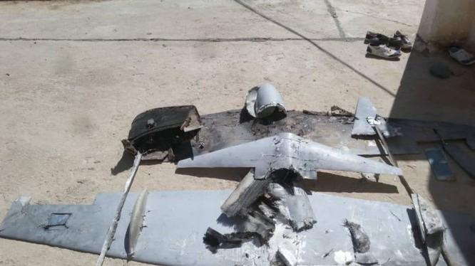 Lực lượng do quân đội Ả râp dẫn đầu tiêu diệt một UAV vũ trang của quân đội Liên minh. Ảnh: truyền thông Houthi.