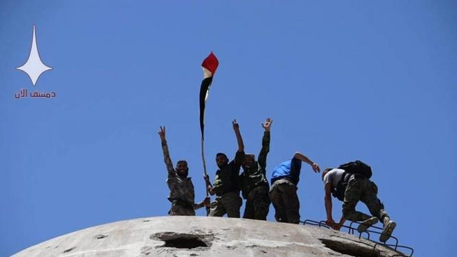 Binh sĩ quân đội Syria trên chiến trường Idlib, Hama, Aleppo. Ảnh minh họa: Masdar News.