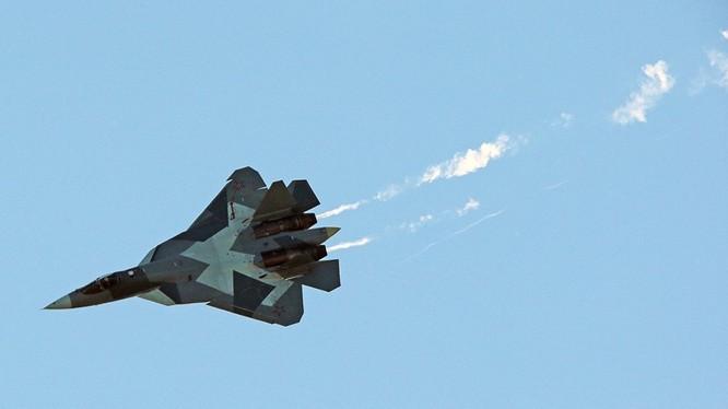 Máy bay siêu tiêm kích tàng hình Su-57. Ảnh minh họa Russian Gazeta