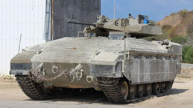 Xe Bộ binh chiến đấu Israel Namer thế hệ mới. Ảnh minh họa video Bộ quốc phòng Israel