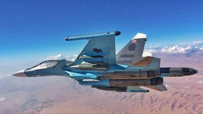 Máy bay ném bom chiến trường Su-34 ở Syria. Ảnh minh họa Bloger fighter_bomber