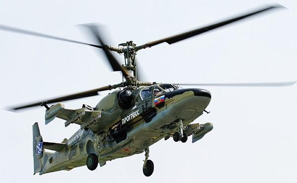Trực thăng chiến đấu Ka-52 Alligator. Ảnh minh họa: Russian Gazeta.