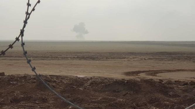 Không quân Mỹ không kích trên chiến trường thị trấn Hajin, Deir Ezzor. Ảnh minh họa: South Front.