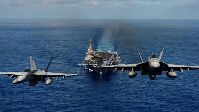 Tàu sân bay Mỹ USS John C. Stennis (CVN 74). Ảnh minh họa Business Ínider
