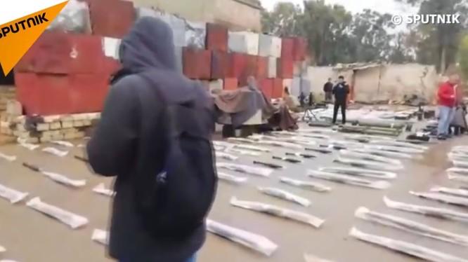 Kho vũ khí mới phát hiện ở Daraa.