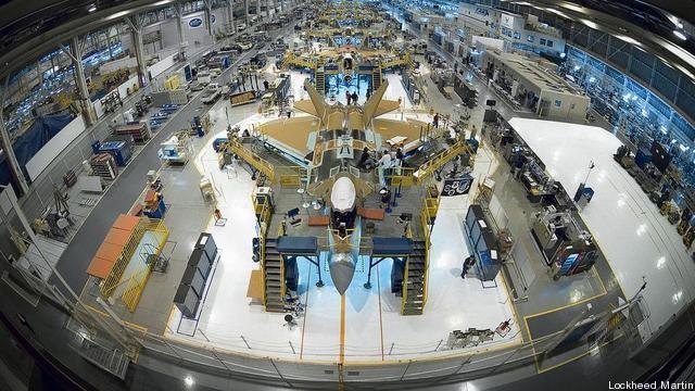 Nhà máy lắp ráp máy bay F-22 Raptor của tập đoàn Lockheed Martin.