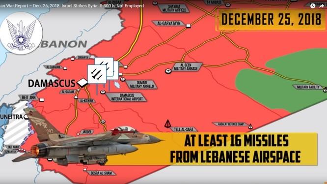 Tình hình chiến sự Syria, Israel không kích thăm dò S-300 Syria.