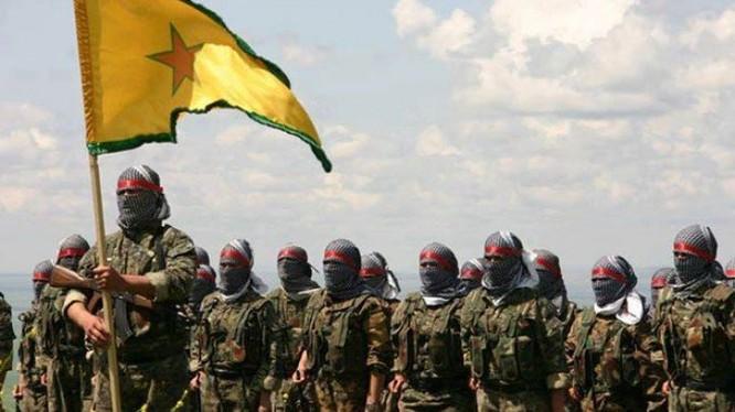 Các chiến binh dân quân người Kurd YPG trong địa phận Aleppo. Ảnh minh họa: Masdar News.