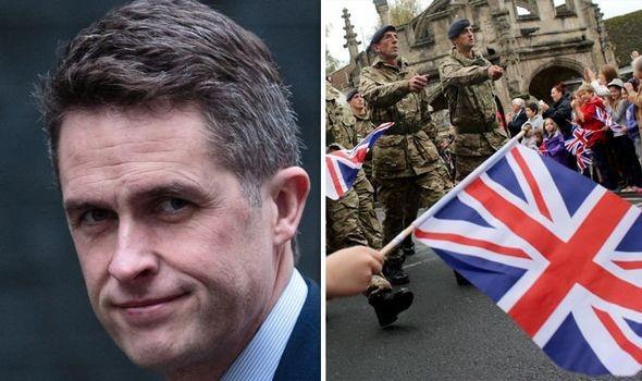 Bộ trưởng Quốc phòng Anh và quân đội Anh. Ảnh minh họa: Express Anh.