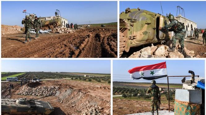 Các đơn vị quân đội Syria thực hiện nhiệm vụ an ninh trên địa phận Idlib và bắc Hama. Ảnh minh họa: South Front.
