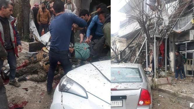 Vụ đánh bom tự sát của IS ở nhà hàng Prince, thành phố Manbij.