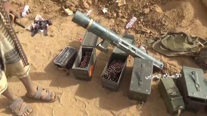 Lực lượng Houthi thu chiến lợi phẩm súng phóng lựu chống tăng C90-CR (M3) 90 mm do Tây Ban Nha sản xuất. Ảnh minh họa: South Front.