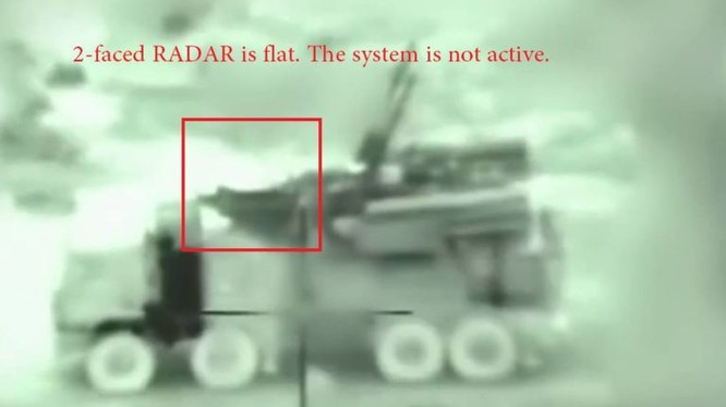 Tổ hợp pháo - tên lửa phòng không Pantsir-S1 khi bị tên lửa Israel tấn công. Ảnh minh họa South Front