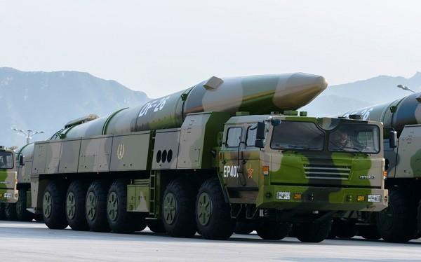 Hệ thống tên lửa đạn đạo Đông Phong 26 (DF-26) của Trung Quốc. Ảnh minh họa Rusian Gazeta