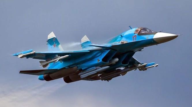 Máy bay ném bom chiến trường Su-34. Ảnh minh họa: Rusian Gazeta.