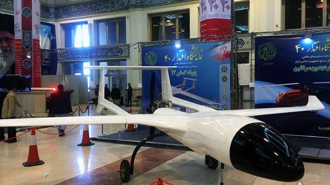 Máy bay không người lái đa nhiệm của Iran. Ảnh: Press TV.