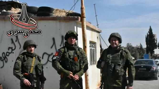 Binh sĩ quân đội Nga trên chiến trường Syria. Ảnh minh họa Masdar News