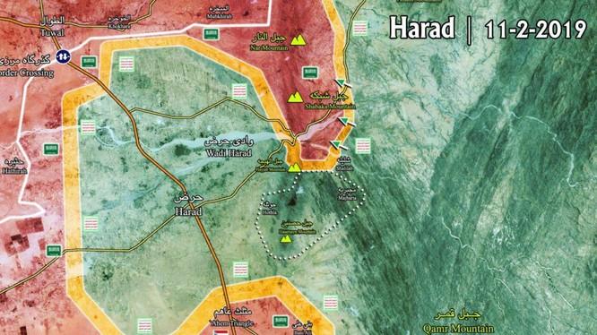 Bản đồ tình hình chiến sự khu vực biên giới Yemen - Ả rập Xê-út tính đến ngày 11.02.2019 theo South Front.