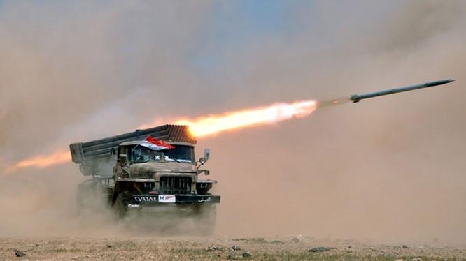 Pháo binh quân đội Syria. Ảnh minh họa: South front.
