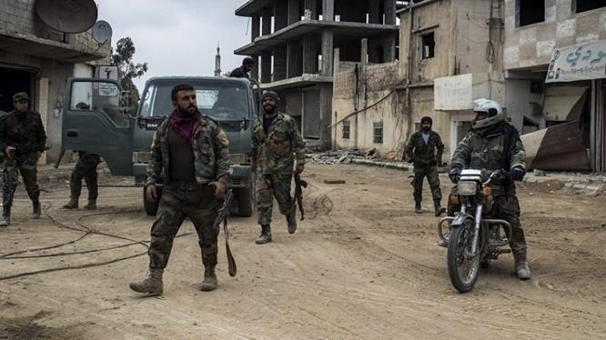 Lực lượng an ninh quân sự Syria ở Daraa. Ảnh minh họa: Masdar News.