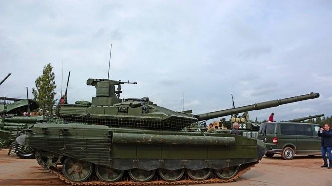 Xe tăng T-90M Nga phiên bản nâng cấp mới nhất. Ảnh: TASS.