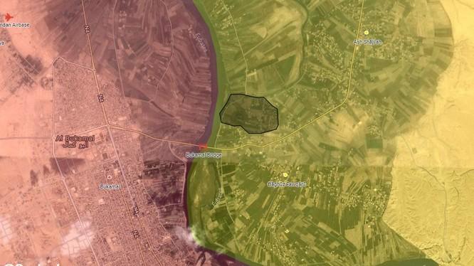 600 m2 cuối cùng của IS trên chiến trường thung lũng Euphrates, tỉnh Deir Ezzor. Ảnh: South Front.