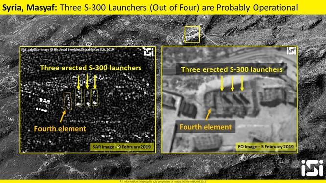 Hai bức ảnh chụp tổ hợp tên lửa S-300 Syria ở khu vực Masyaf ngày 05.02.2019 và ngày 19.02.2019 theo ISI
