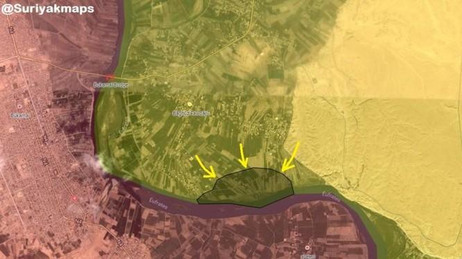SDF tấn công vào 600m2 cuối cùng của IS trên thung lũng sông Euphrates, Deir Ezzor.
