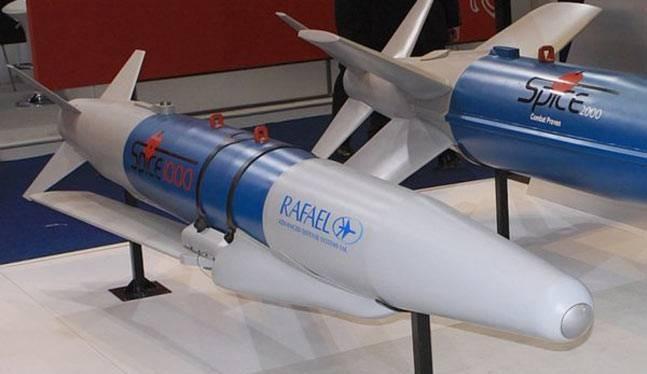 Bom có điều khiển Spice 1000 và 2000 Israel. Ảnh minh họa: Defence Pakistan.
