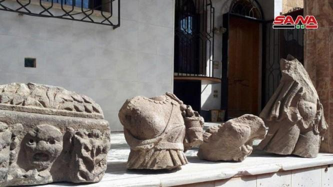 Những cổ vật quý giá tìm thấy được ở Đông Ghouta, Damascus. Ảnh: SANA.