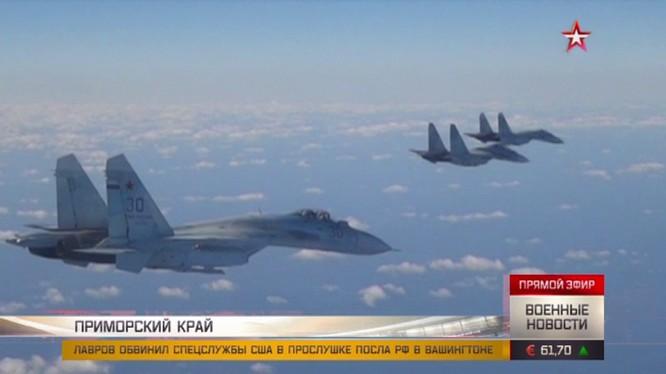 Các máy bay tiêm kích Nga tham gia huấn luyện chiến đấu. Ảnh: TV Zvezda.