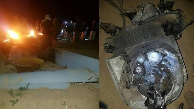 Chiếc máy bay không người lái MQ-1 bị bắn hạ trên không phận thủ đô Yemen, Sanaa. Ảnh: South Front.