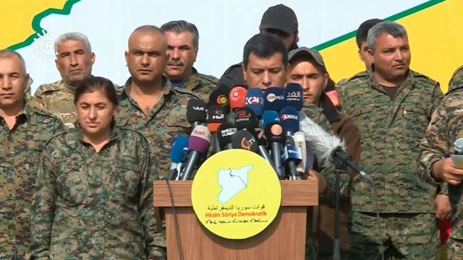 Lực lượng Dân chủ Syria tuyên bố giành thắng lợi, tiêu diệt hoàn toàn IS. Ảnh: South Front.