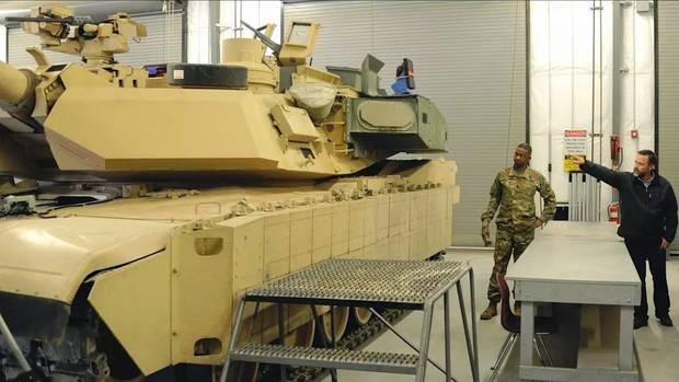 Xe tăng Abrams M1A2C nâng cấp. Ảnh: báo Đức Stern.