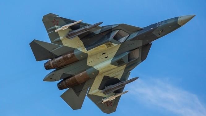 Siêu tiêm kích tàng hình thế hệ 5 Su-57. Ảnh: Military Wach Magazine.