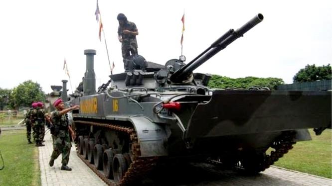 Xe bộ binh chiến đấu BMP-3F của Lính thủy Đánh bộ Indonesia. Ảnh minh họa: AntaraNews.