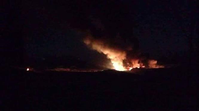 Không quân Israel không kích vào địa phận tỉnh Hama, Syria.