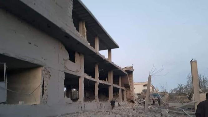 Hậu quả cuộc không khích của Israel vào Hama. Ảnh South Front