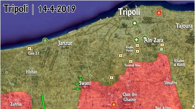 Tình hình chiến sự ở Libya tính đến ngày 14.04.2019 theo bản đồ ISWNews.com
