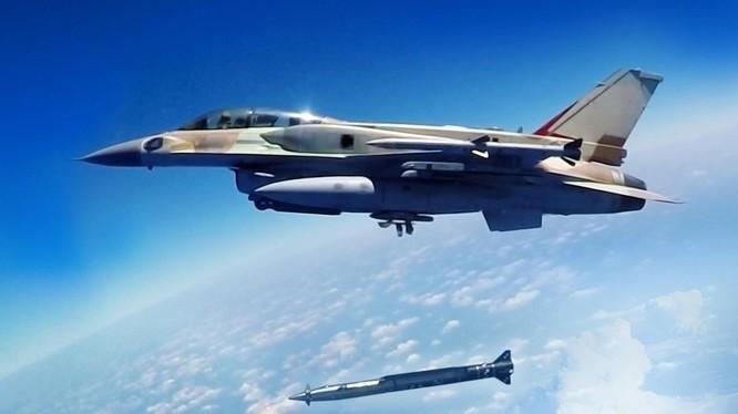 Không quân Israel, sử dụng tên lửa hành trình siêu âm không đối đất Rampage tấn công quân đội Syria. Ảnh minh họa: South Front.