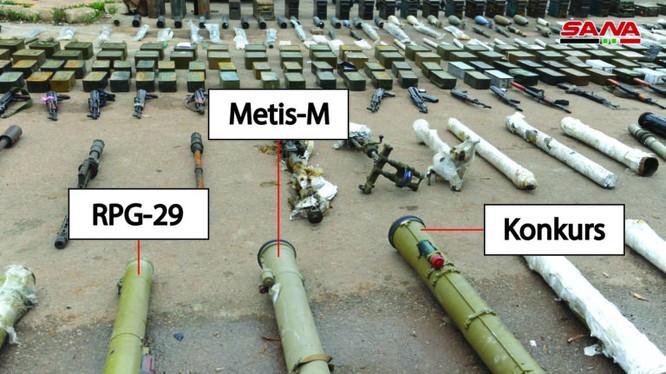 Một số vũ khí quân đội Syria thu giữ được ở Daraa. Ảnh minh họa South Front