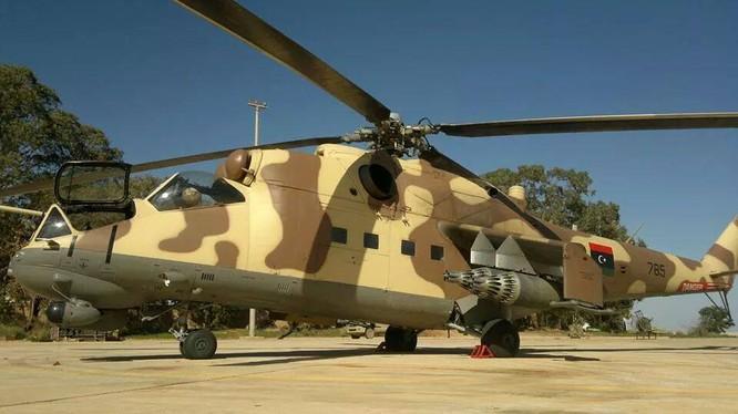 Máy bay chiến đấu Mi-35 của lực lượng LNA Libya.