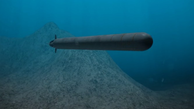 Ngư lôi, tàu ngầm không người lái động cơ nguyên tử Poseidon. Ảnh minh họa TV Zvezda