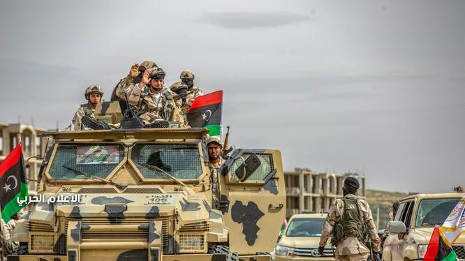 Lực lượng LNA tiến công về Tripoli. Ảnh tài khoản FaceBook của Quân đội Quốc gia Libya.