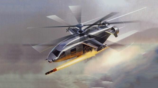 Một ý tưởng trực thăng tấn công lai ghép động cơ đẩy.