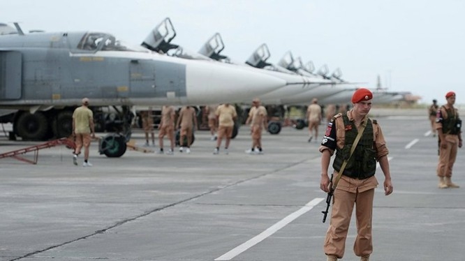 Căn cứ không quân Khmeimim ở Latakia. Ảnh minh họa Masdar News