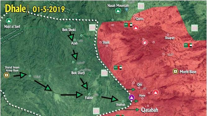 Lực lượng Houthi mở rộng vùng kiểm soát trong địa phận tỉnh Dhale.